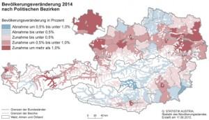 Bevölkerungszahl Österreich