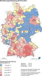 Bevölkerungsentwicklung 2018 demographischer Wandel
